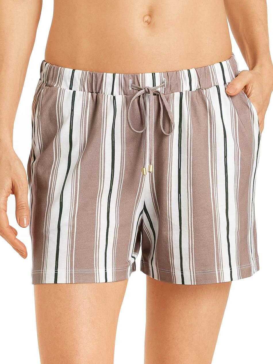 HANRO Damen Pyjamahose kurz Schlafanzughose Shorts Hose Sleep /& Lounge