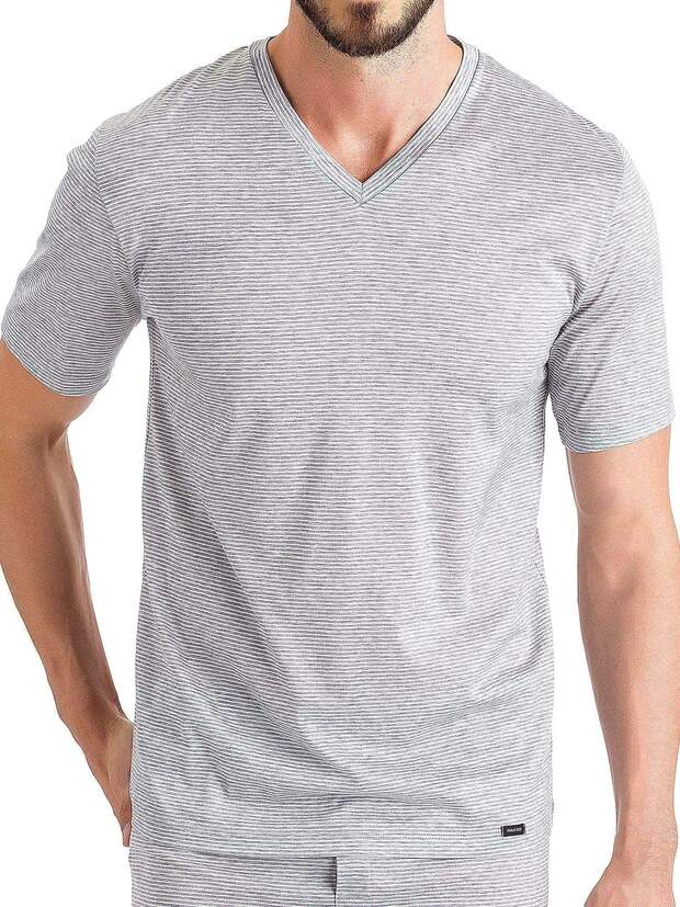 Shirt V-Neck - Sporty Stripe